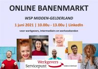 Online Banenmarkt WSP Midden-Gelderland op 1 juni