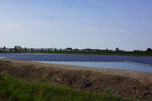 Drijvend zonnepark in tuinbouwgebied nadert voltooiing